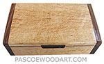 Handmade wood box - Decorative wood keepsake box made of bird's eye maple with Santos rosewood ends