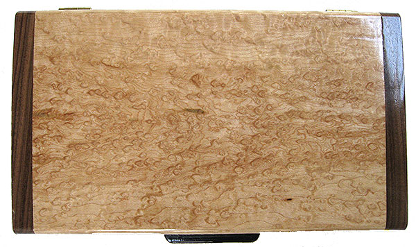 Bird's eye maple box top - Handmade decorative wood keepsake box