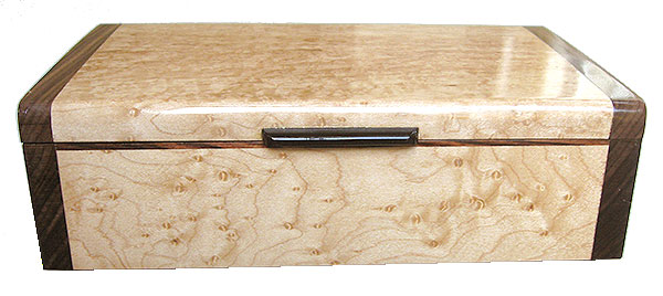 Bird's eye maple box side - Handmade decorative wood keepsake box