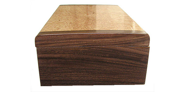 Santos rosewood box end - Handmade decorative wood keepsake box