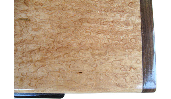 Bird's eye maple box top close up - Handmade decorative wood keepsake box