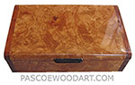 Handmade wood box - Decorative wood keepsake box made of maple burl with bubinga ends