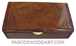 Handmade wood box - Decorative wood keepsake box made of camphor burl with cocobolo ends