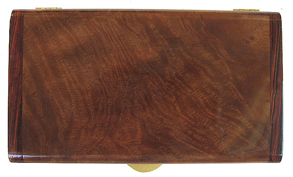 Camphor burl box top - Handmade decorative wood keepsake box