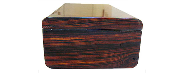 Cocobolo box end - Handmadd decorative wood keepsake box