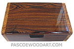 Handmade wood box - Decorative wood keepsake box made of Brazilian kingwood with spalted maple burl ends