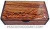 Handmade wood box - Decorative wood keepsake box made of Honduras rosewood with Santos rosewood ends