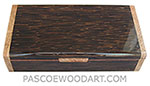 Handmade wiood box - Decorative wood keepsake box made of black palm with spalted maple burl ends