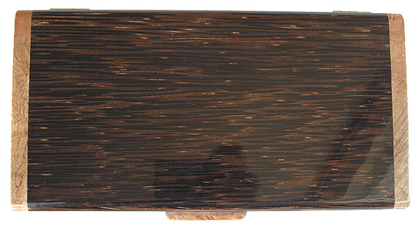 Black palm box top - Handmade decorative wood keepsake box