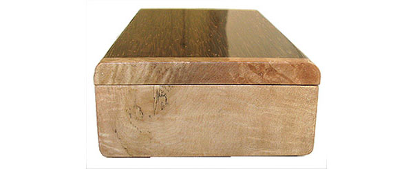 Spalted maple burl box end - Handmade decorative wood keepsake box