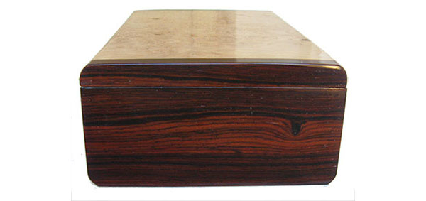 Cocobolo box end - Handmade decorative wood box
