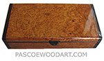 Handmade wood box - Decorative wood keepsake box made of amboyna burl with bois de rose ends