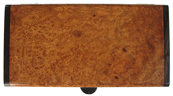 Amboyna burl box top - Handmade wood decorative keepsake box