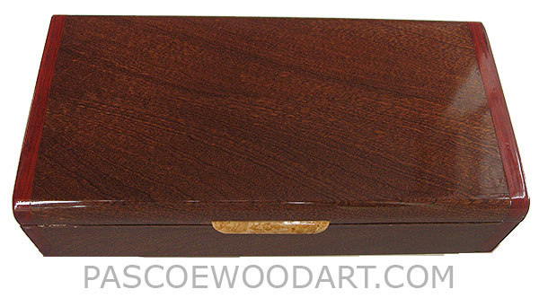 Handmade wood box - Decorative wood keepsake box made of sapele with cocobolo ends