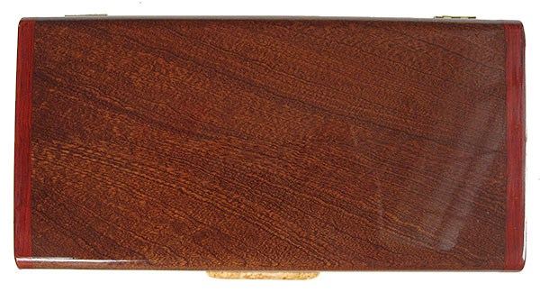 Sapele box top - Handmade wood box, decorative keepsake box