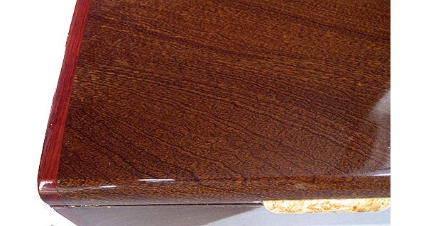 Sapele box top close up - Handmade wood box, decorative keepsake box