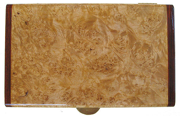 Maple burl box top - Handmade decorative wood keepsake box