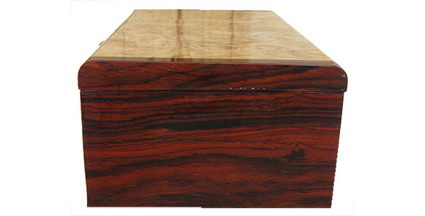 Cocobolo box end - Handmade wood box