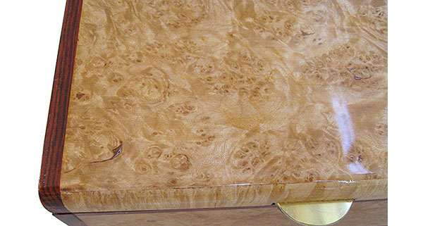 Maple burl box top close up - Handmade decorative keepsake box