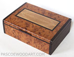 Decorative wood keepsake box - Handmade amboyna burl and ebony keepsake box