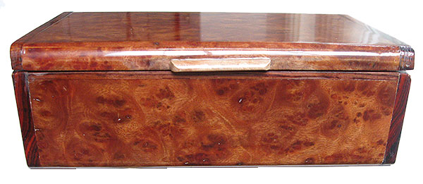 Camphor bulr box front - Handmade wood decorative keepsake box