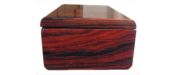 Cocobolo box end