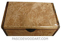 Handmade wood box - Decorative wood keepsake box made of maple burl with bocote ends
