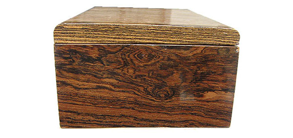 Bocote box end - Handmade wood box
