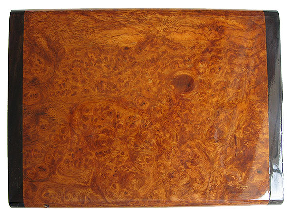 Amboyna burl box top - Handmade decorative wood keepsake box