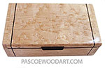 Handmade wood box - Decorative wood keepsake box made of birds eye maple, ebony