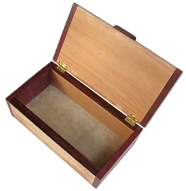 Handmade wood box -open view