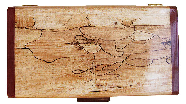 Splated maple box top - Handmade wood decorative keepsake box