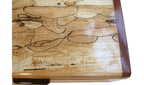 Spalted maple box top close up - Handmade wood decorative keepsake box