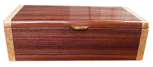 Brazilian kingwood box front - Handmade wood decorative keepsake box