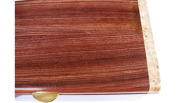 Brazilian kingwood box top close up - Handmade wood decorative keepsake box