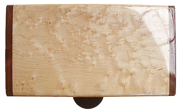 Birds eye maple box top - Handmade decorative wood keepsake box