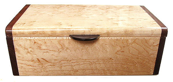 Birds eye maple box front - Handmade wood dcorative keepsake box