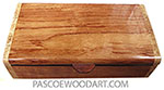 Handmade wood box - Decorative wood keepsake box made of bubinga with spalted maple burl ends