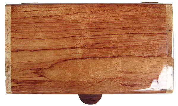 Bubinga box top - Handmade wood decoratiive keepsake box
