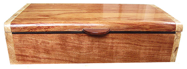 Bubinga box front - Handmade wood decorative keepsake box