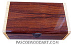 Handmade wood box - Decorative wood keepsake box made of cocobolo with figured maple ends