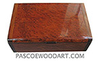 Handmade wood box - Decorative wood keepsake box made of redwood burl with Asian ebony ends