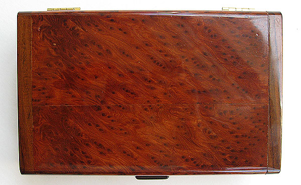 Redwood burl box top - Handmade wood decorative keepsake box