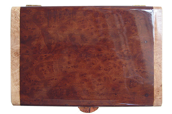 Camphor burl box top - Handmade wood decorative keepsake box