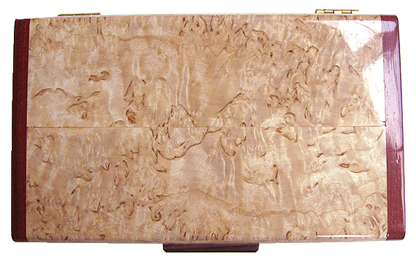 Masur birch box top - Handmade wood decorative keepsake box
