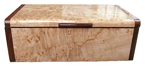 Masur birch box front - Handmade wood keepsake box