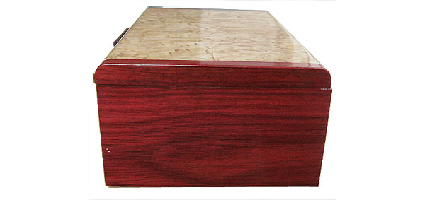 Bloodwood box side - Handmade wood box