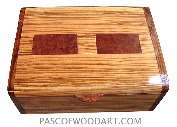 Decorative Keepsake Box Interesting Handcrafted Wood Keepsake Box  Italian Olive Wood Amboyna Burl Design Ideas