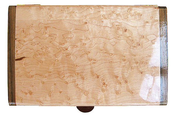 Bird's eye maple box top - Handmade wood decorative keepsake box