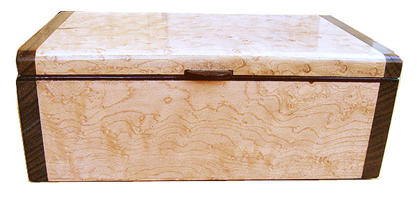 Bird's eye maple box front - Handmade wood box